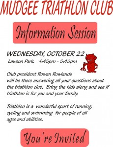 Information session for web site
